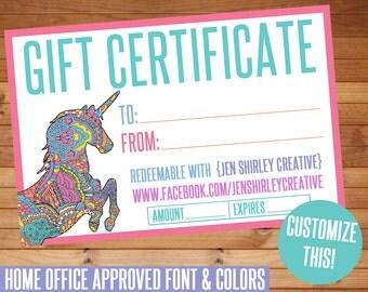 SALE! Gift Certificate, Digital Files, HO Approved Fonts, Gift Card, Marketing, Business Items, Direct Sales, Promotional, Digital, LLR