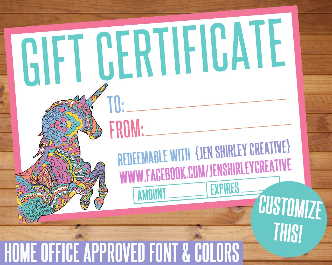 Sale gift certificate digital files ho approved fonts gift zoom magicingreecefo Image collections