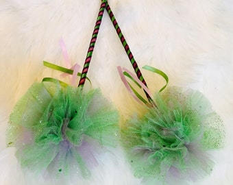 Princess tiana wand/ princess wand/ costume wands/ disney princess wand/ purple and green wand