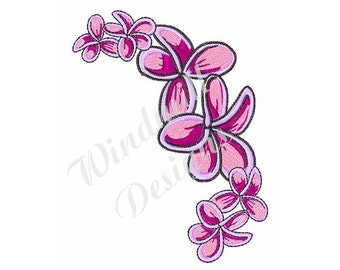 Tropical Flowers - Machine Embroidery Design