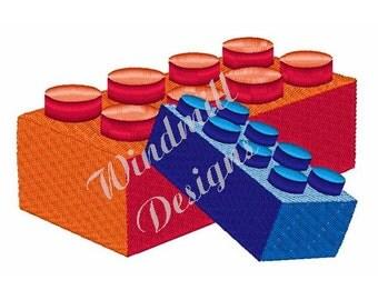 Lego Blocks - Machine Embroidery Design