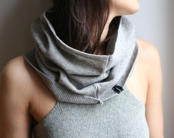 Grey Recycled Jumper Wool Snood