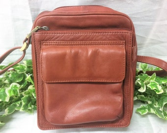 Lovely Vintage Visconti London Real Leather Small Brown Shoulder / Cross Bag with Original Dustbag
