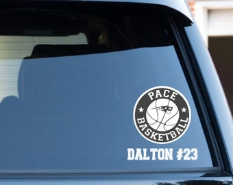 Custom Team Decal, Basketball Decal, Personalized Sports Decal
