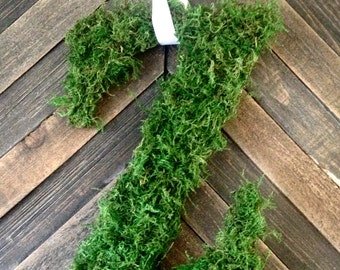 Mossy Letter  - Custom Wreaths - Handmade - Summer - Spring - Housewarming Gift - Birthday Gift - Sympathy - Wedding Gift