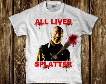 Negan bloody Lucille All lives splatter adult unisex t-shirt - Walking dead