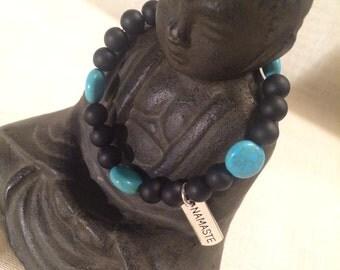 Namaste Charm Bracelet. Gemstone Bracelet.
