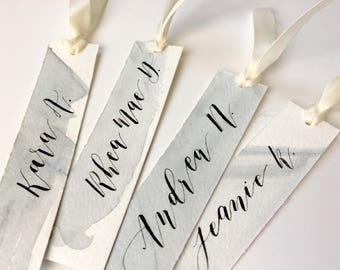 Watercolor Calligraphy, Long Gift Tags or Place Cards