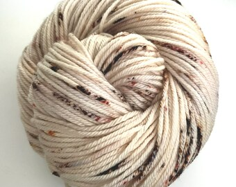 Worsted, Speckled, Hand Dyed Yarn, Superwash Merino, 100 grams/218 yards, *Tink*