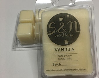Vanilla - Vanilla Scented Candle Melt / Wax Melt / Wax Tart / Candle Tart - Hand Poured - Home Made Soy Wax Candle
