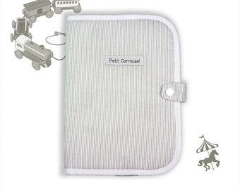 Protect gray striped health book