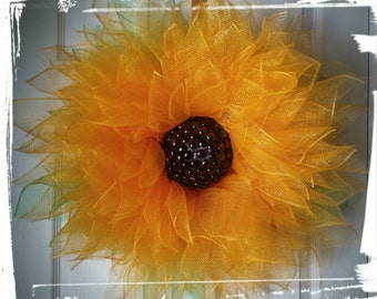 Sunflower Blossom Wreath, Wall Decor, Front Door Wreath, Gift, Summer Wreath, Mother's Day