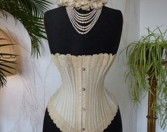 1890 MARINA Corset, antique Corset, Victorian Corset, antikes Korsett, Corset ancienne