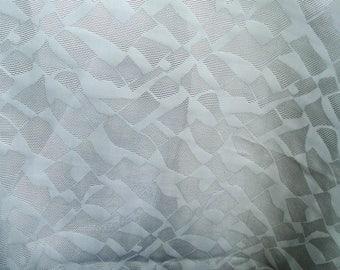 """Pure Silk brocade fabric 39"""" wide silver gray"""