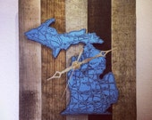 State Clock on Reclaimed Wood