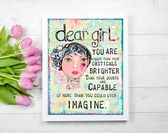 Teen Room Decor, Teen Room Wall Decor, Modern Art Prints, Modern Wall Art, Teen  Wall Art, Wall Art For Teenage Girl, Girl Bedroom Art, Girl