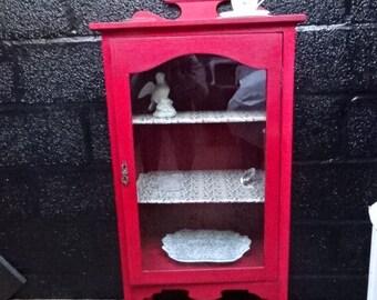 Edwardian Mahogany Cabinet/Handpainted