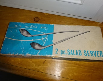 2 Piece Salad Server stainless steel/1970s