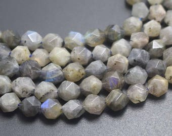 10mm Natural Faceted Labradorite Beads,Natural Labradorite Faceted Beads,15 inches one starand