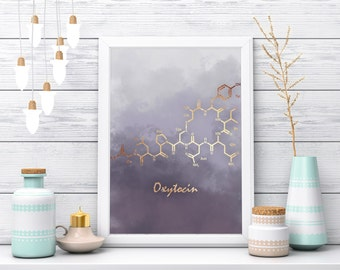 Oxytocin Art Print, Oxytocin Wall Art, Oxytocin Decor, Poster, Oxytocin Wall Decor, Molecules, Chemistry, Prints