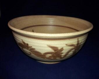 Vintage Kalapuya Pottery Serving Bowl - Signed 1991