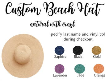 Natural Floppy Beach Hat