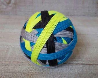 Hand Dyed Neon Self Striping Sock Yarn ~  Robot ~ Sockcess ~ 75/25 superwash merino/ nylon or Sport Weight ~ 80/20