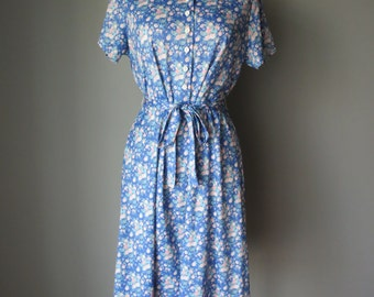 Vintage 1960's Floral Day Dress - Pastel Floral Dress
