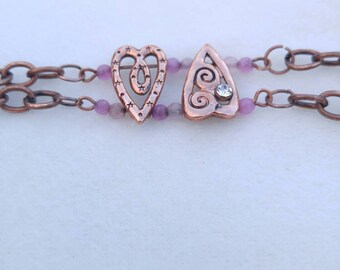 Copper Hearts bracelet
