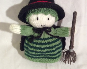 Witch knitted doll