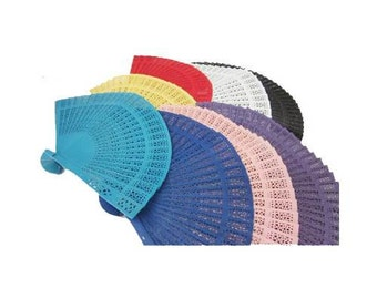 Personalized Colored Wood Folding Hand Fans