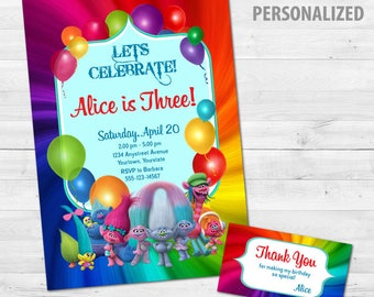 Trolls Birthday Party Printable Set