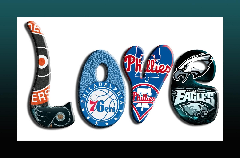 Philadelphia Sports Love Teams 5 12 X20sports Canvas