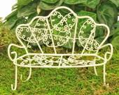 Wire Garden Bench Miniature Bench Fairy Garden Accessory Miniature Garden Fairy Garden Furniture Fairy Bench