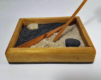 Mini Zen Garden, Zen Garden, Rock Garden, Sand Garden, Japanese Rock Garden, Meditation Garden, Garden, Desktop Zen Garden, Zen Garden Kit