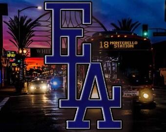 E.L.A,East Los Angeles Vinyl Sticker