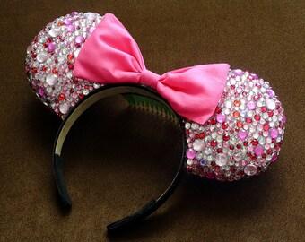 Multi Pink Rhinestone Mouse Ears