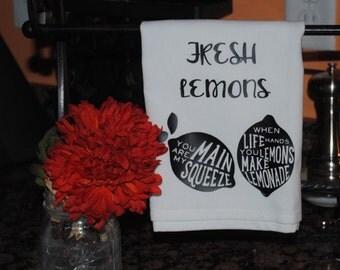 Fresh Lemons Tea Towel