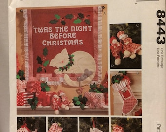 Sewing pattern McCalls crafts 'twas the night before Christmas sewing pattern 8443