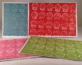 Set of 5 Birthday Cupcakes CLASSIC Birthday Cards