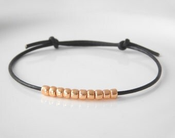 leather bracelet *minimalist* rosegold