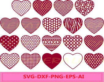 60 % OFF, Heart SVG,  Heart File svg, png, eps, dxf, ai,  Cutting File Design, Valentines Hearts svg, Chevron Files Svg, Silhouette Love SVG