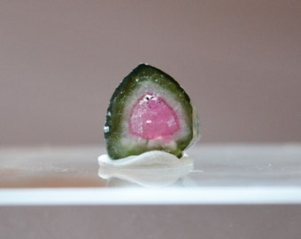 4.45 ct watermelon tourmaline slice from Kunar, Afghanistan B1
