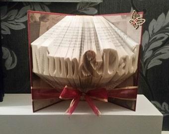 Mum&Dad - Folded Book Art