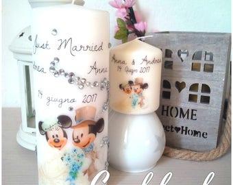 Bougie de mariage avec swarovski Swarovski Disney Disney/mariage