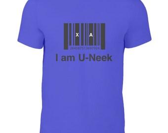 I am u-neek - kids t-shirts - Inspirational Quote - Purple - Unique