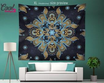 BOHOCHIC Mandala Wall Hanging. Indie Royale Mandala Tapestry. Bohemian Tapestries.