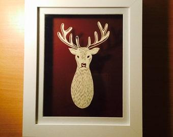 Handmade Papercut Deer