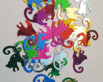 30 x Craft Sequins/Confetti - 19mm - Happy Cats [Various Colours Available]