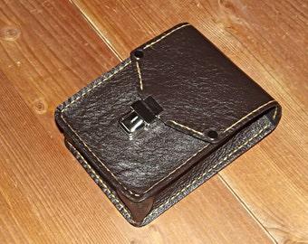Leather belt bag, Mens belt bag, Dark brown bag, Travel Pouch, Handmade belt Bag, Utility belt bag, Compact bag, Leather Belt Pouch